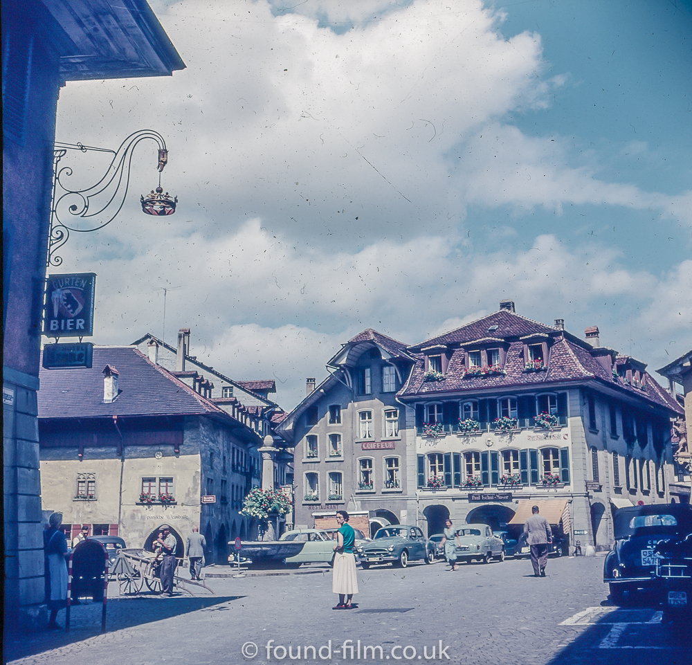 The Market Place in Thun - 1957