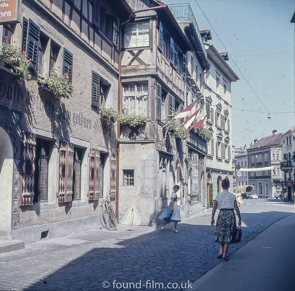 A town in Switzerland in 1957