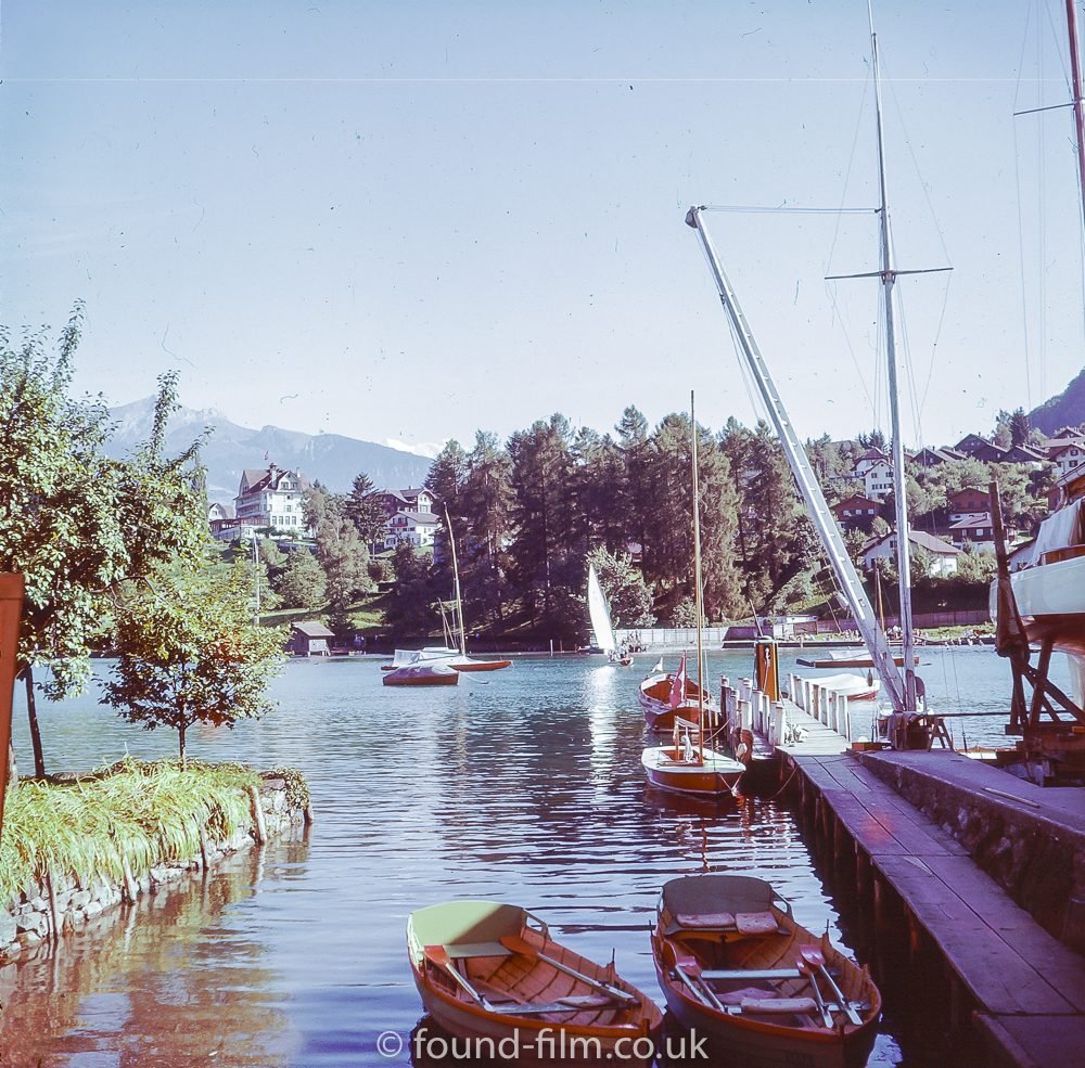 Yachting harbour in Spiez 1957