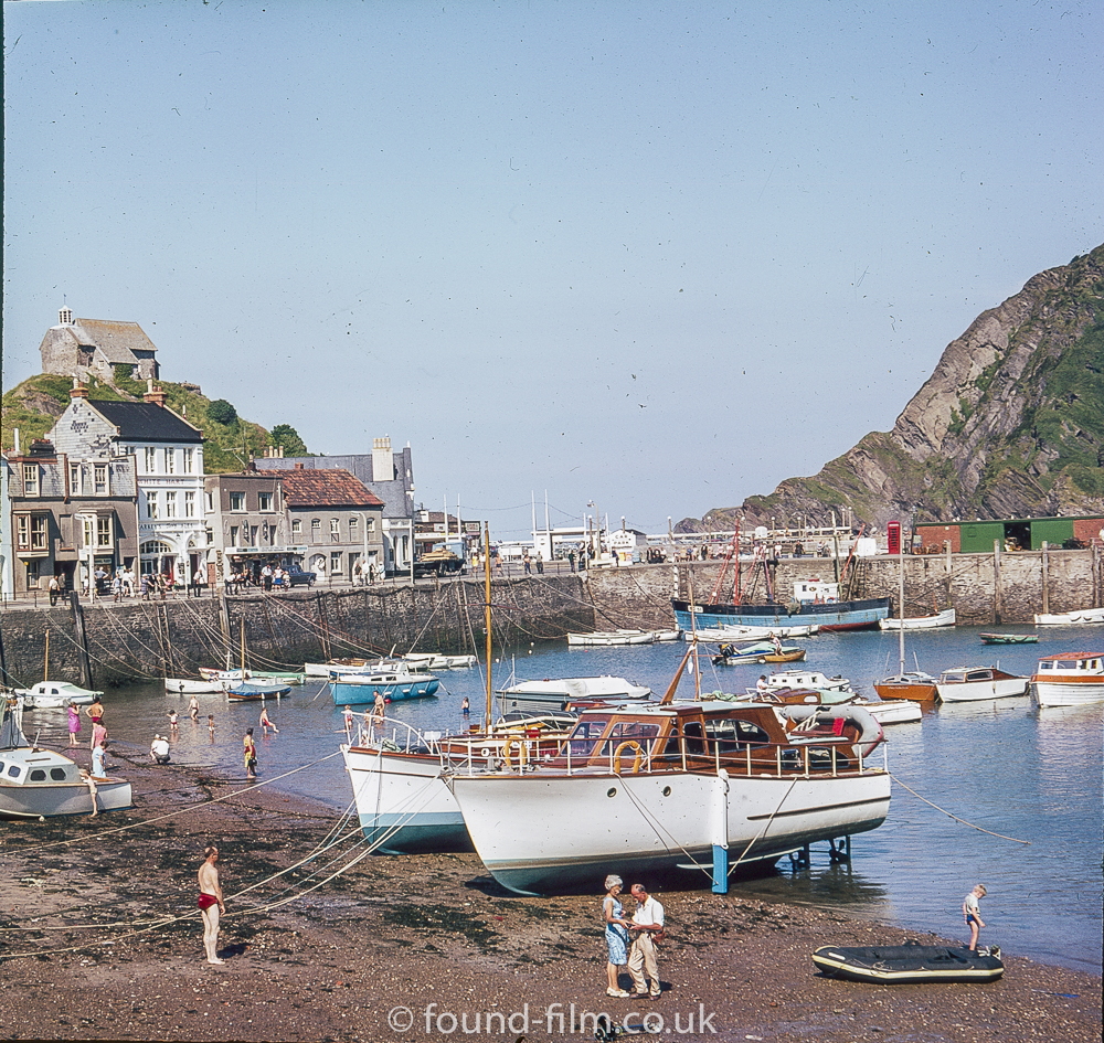 A Cornish fishing village in the mid 1970s