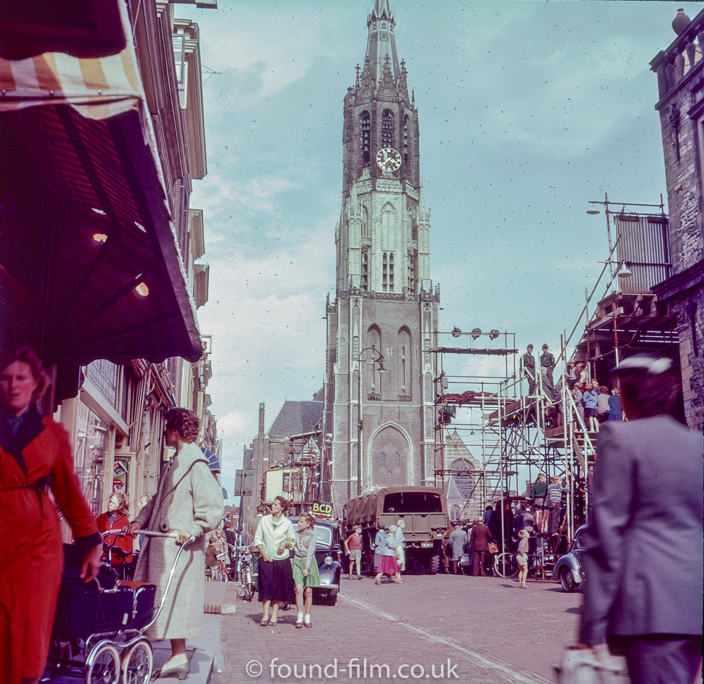 The town of Delft in 1957