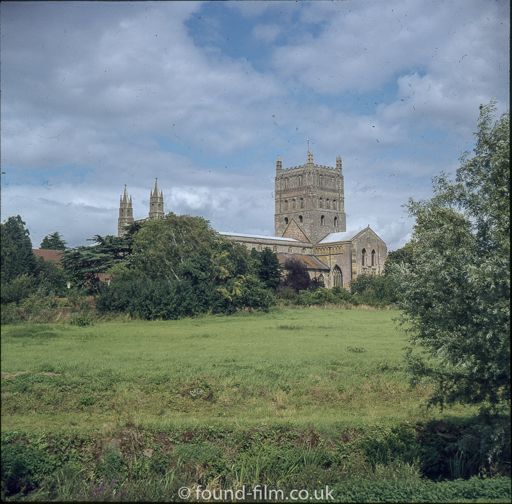 Tewkesbury Abbey in the mid 1970s