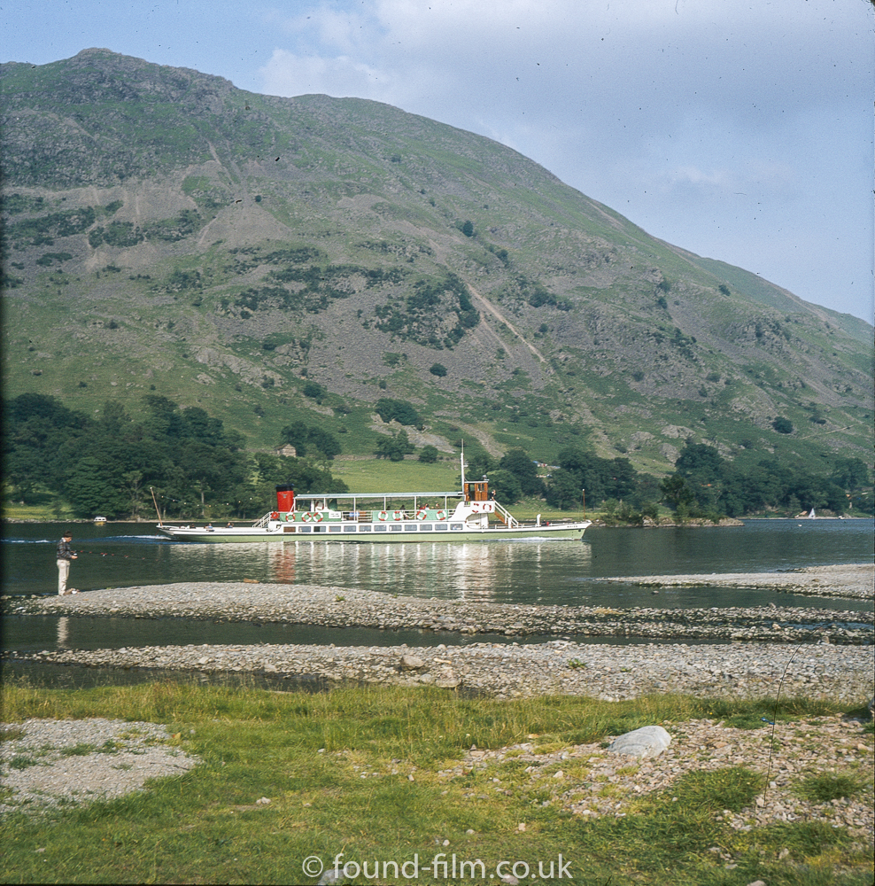 A Steamer on Ullswater in the mid 1970s