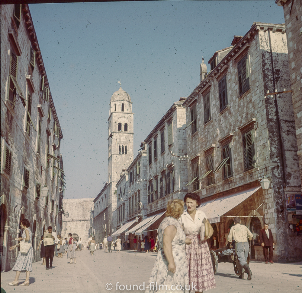 Dubrovnik Street scene in the late 1950s