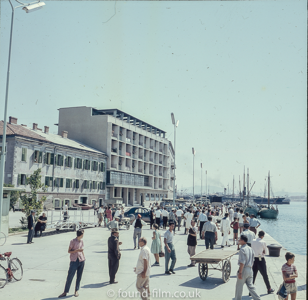 By the waterfront in a European City