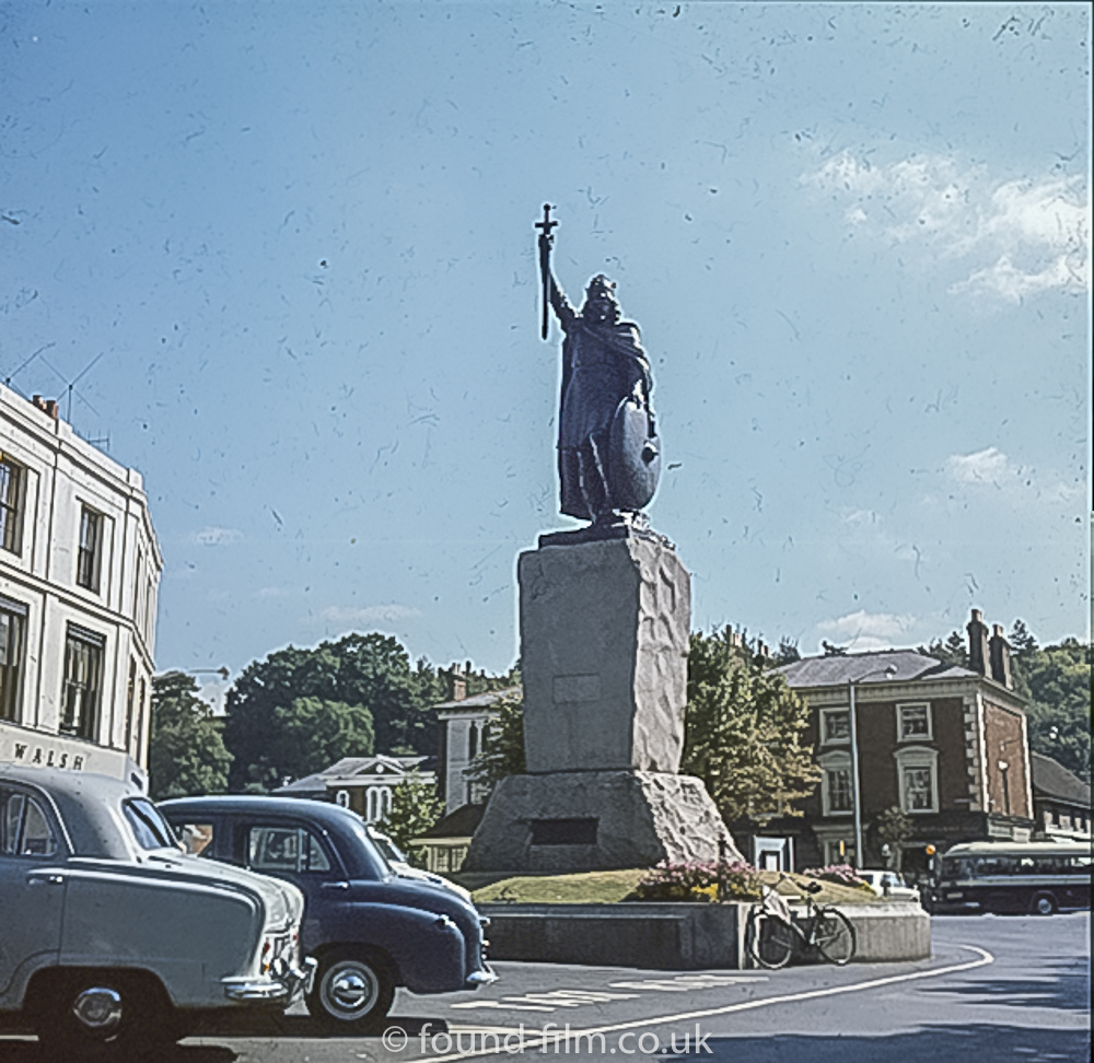 The statue of King Alfred in Winchester