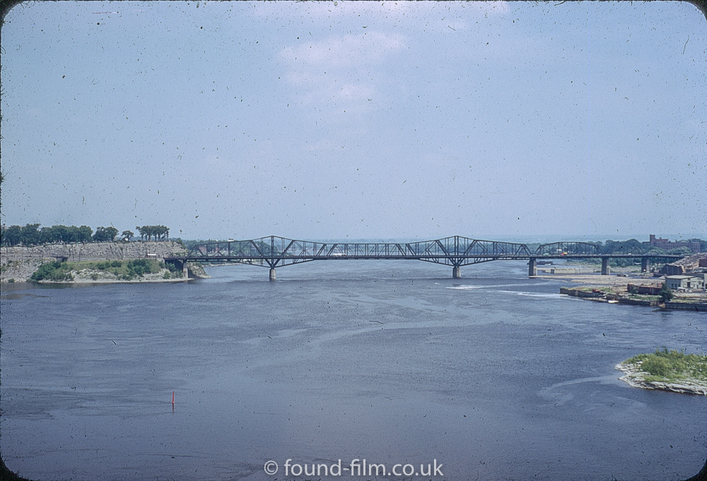 kodachrome red border colour slides - Bridge in Canada