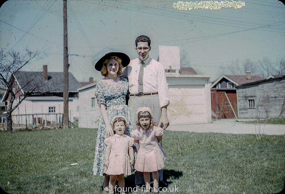kodachrome red border colour slides - Family portrait