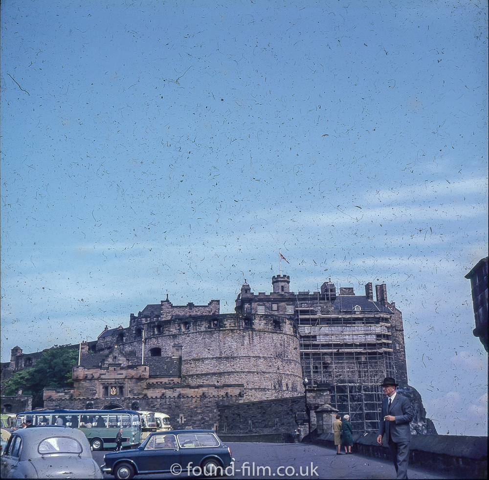 Edinburgh castle under repair