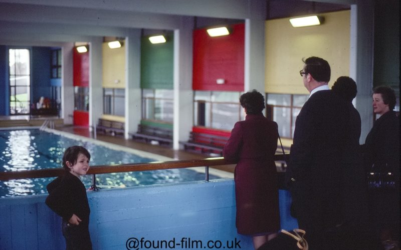 Small child at a swimming pool