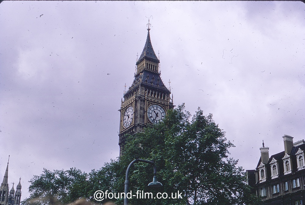 The tower of Big Ben – August 1969
