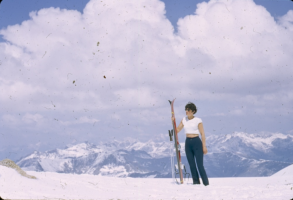 Woman with Skis – July 1972